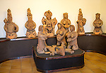 Carved wooden figures, Museum and folklore arts centre, Casa Museo Monumento al Campesino, Lanzarote, Canary Islands, Spain