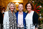 Breda Barron, John Conneely and Barbara O'Sullivan pictured at the Thanksgiving Dinner at The Rose Hotel, Tralee, on Thursday, November 23rd last.