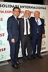 XIV Sopar Solidari de Nadal.<br /> Esport Solidari Internacional-ESI.<br /> Josep M. Bartomeu, Josep Maldonado &amp; Manuel Cerezo.