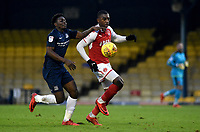 Southend United's Jermaine McGlashan battles with Fleetwod Town's Nathan Pond<br /> <br /> Photographer Hannah Fountain/CameraSport<br /> <br /> The EFL Sky Bet League One - Southend United v Fleetwood Town - Saturday 13th January 2018 - Roots Hall - Southend<br /> <br /> World Copyright &copy; 2018 CameraSport. All rights reserved. 43 Linden Ave. Countesthorpe. Leicester. England. LE8 5PG - Tel: +44 (0) 116 277 4147 - admin@camerasport.com - www.camerasport.com