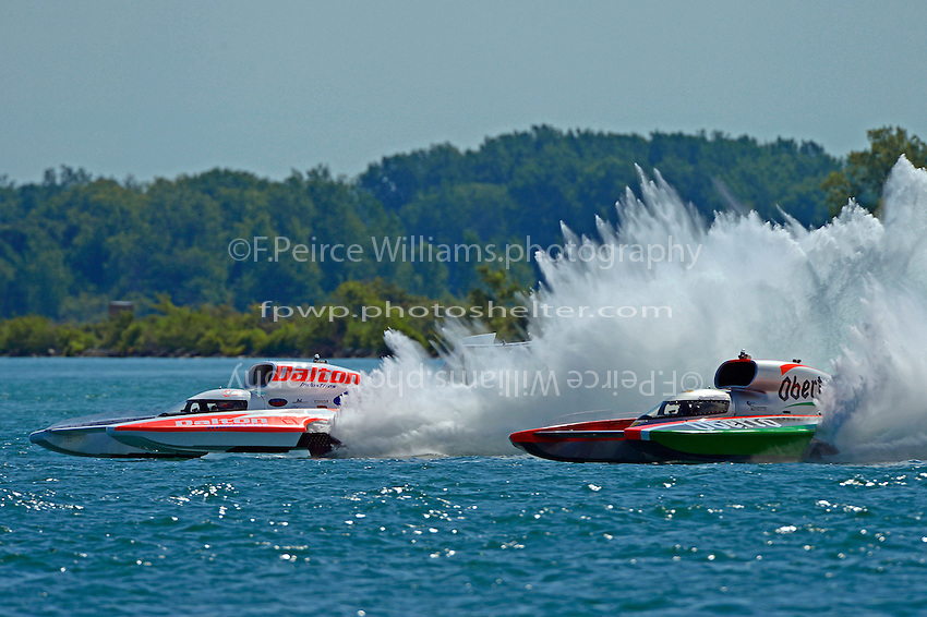 "Cal Phipps, U-27 ""Dalton Industries"" and Jimmy Shane, U-1 ""Oberto""  (Unlimited Hydroplane)"