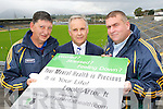 Launching the Kerry Mental Health Association and the Kerry GAA county wide mental health awareness campaign in Fitzgerald Stadium on Wednesday which was the World Mental Health day was l-r: Ger Galvin Kerry County Board vice Chairman, Dan O'Connor KMHA Development manager and County Board Chairman Patrick O'Sullivan