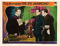 The Mysterious Dr. Fu Manchu (1929) <br /> Lobby card<br /> *Filmstill - Editorial Use Only*<br /> CAP/KFS<br /> Image supplied by Capital Pictures