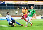 S&ouml;dert&auml;lje 2015-10-05 Fotboll Superettan Syrianska FC - J&ouml;nk&ouml;pings S&ouml;dra :  <br /> J&ouml;nk&ouml;ping S&ouml;dras Fredrik Olsson med en m&aring;lchans framf&ouml;r Syrianskas m&aring;lvakt Dejan Garaca under matchen mellan Syrianska FC och J&ouml;nk&ouml;pings S&ouml;dra <br /> (Foto: Kenta J&ouml;nsson) Nyckelord:  Syrianska SFC S&ouml;dert&auml;lje Fotbollsarena J&ouml;nk&ouml;ping S&ouml;dra J-S&ouml;dra