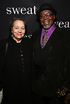 "Deborah Brevoort and Chuck Cooper attend the Broadway Opening Night Production of  ""Sweat"" at studio 54 Theatre on March 26, 2017 in New York City"