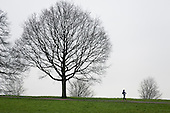 Jogger, Hampstead Heath, London.