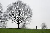 Jogger, Hampstead Heath, London.