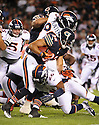 KAHLIL BELL (32), of the Chicago Bears, in action during the Bears preseason game against the Denver Broncos on August 9, 2012 at Soldier Field in Chicago, IL. The Broncos beat the Bears 31-3.