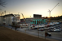 NWA Democrat-Gazette/ANDY SHUPE<br /> Construction continues Wednesday, Jan. 3, 2018, at Razorback Stadium on the University of Arkansas campus in Fayetteville.