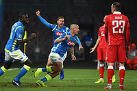 Marek Hamsik of Napoli celebrates after scoring a goal during the Uefa Champions League 2018/2019 Group C football match betweenSSC Napoli and Crvena Zvezda at San Paolo stadium, Napoli, November, 28, 2018 <br /> Foto Andrea Staccioli / Insidefoto
