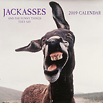Published photography by Larry Angier..Jackasses 2009 Calendar cover, Browntrout Publishers