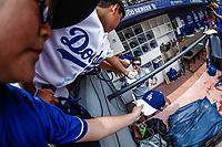 Enrique Hernandez.<br /> Acciones del partido de beisbol, Dodgers de Los Angeles contra Padres de San Diego, tercer juego de la Serie en Mexico de las Ligas Mayores del Beisbol, realizado en el estadio de los Sultanes de Monterrey, Mexico el domingo 6 de Mayo 2018.<br /> (Photo: Luis Gutierrez)