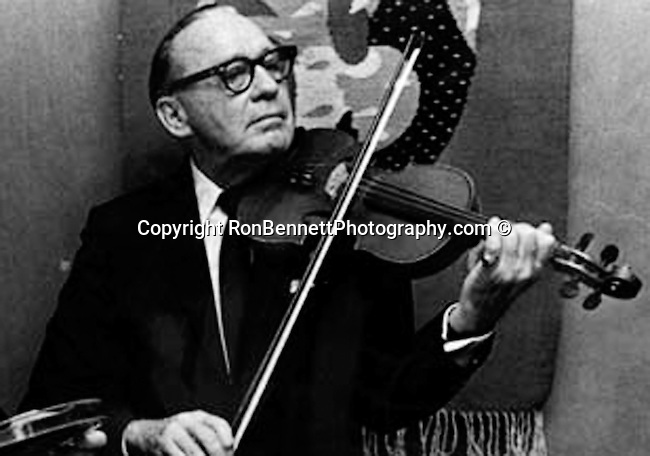 Jack Benny plays the violin,
