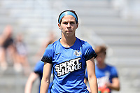 Cary, North Carolina  - Saturday June 03, 2017: Erika Tymrak prior to a regular season National Women's Soccer League (NWSL) match between the North Carolina Courage and the FC Kansas City at Sahlen's Stadium at WakeMed Soccer Park. The Courage won the game 2-0.
