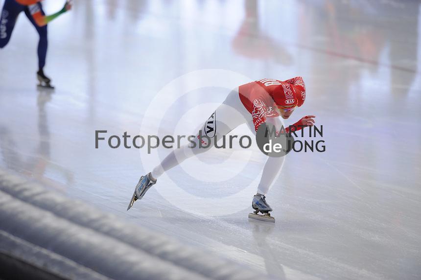 SCHAATSEN: INZELL: Max Eicher Arena, 09-02-2013, Essent ISU World Cup, Season 2012-2013, Yekaterina Shikhova (RUS), ©foto Martin de Jong