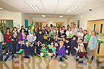 NANO NAGLE: Tadgh Kennelly of the victorious Kerry team was deleighted to bring the Sam Maguire Cup to Nano Nagle School,Listowel on Wednesday...