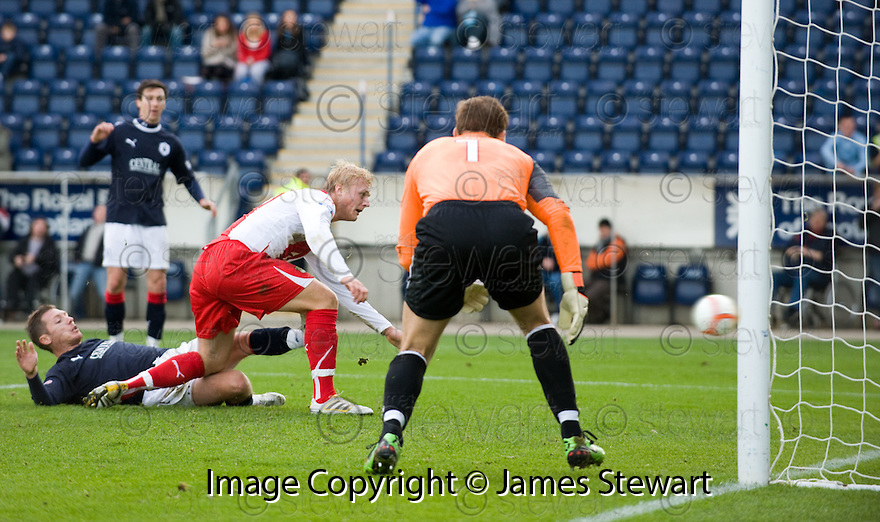30/10/2010   Copyright  Pic : James Stewart.sct_jsp016_falkirk_v_dundee  .:: DAVID WITTENVEEN SCORES DUNDEE'S THIRD :: .James Stewart Photography 19 Carronlea Drive, Falkirk. FK2 8DN      Vat Reg No. 607 6932 25.Telephone      : +44 (0)1324 570291 .Mobile              : +44 (0)7721 416997.E-mail  :  jim@jspa.co.uk.If you require further information then contact Jim Stewart on any of the numbers above.........