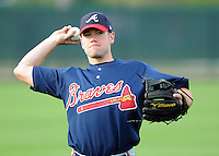 17 March 2009: Travis Adair of the Atlanta Braves at Spring Training camp at Disney's Wide World of Sports in Lake Buena Vista, Fla. Photo by:  Tom Priddy/Four Seam Images