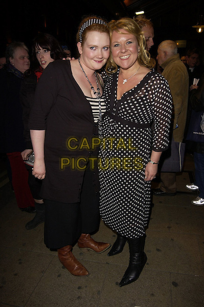 "JENNIE McALPINE & WENDI PETERS.""Smaller"" West End Transfer & Press night aftershow party at Floridita London, Wardour Street, London, UK..April 4th, 2006.Ref: CAN.full length black white polka dot dress jacket.www.capitalpictures.com.sales@capitalpictures.com.©Capital Pictures"