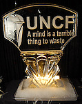 An ice sculpture at the UNCF 21at Annual Black Tie Gala at the Hilton Americas Hotel Friday Dec. 04,2009. (Dave Rossman/For the Chronicle)