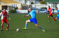 Action from the Capital Football masters division 3 match between Seatoun AFC and Porirua City FC Intela AI at Crawford Green in Wellington, New Zealand on Saturday, 4 July 2020. Photo: Dave Lintott / lintottphoto.co.nz