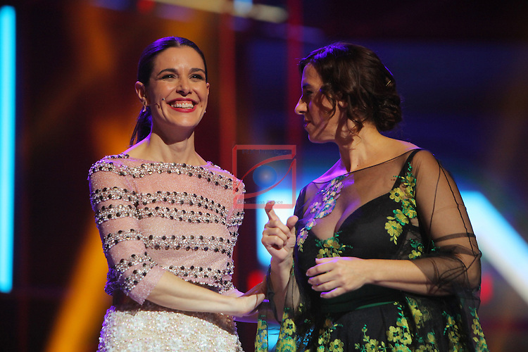 63 Premios Ondas.<br /> Gala de Entrega de los premios.<br /> Raquel Sanchez Silva &amp; Llum Barrera.