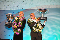 "Stephanie Gilmore (AUS) and Mick Fanning (AUS).COOLANGATTA, Queensland/Australia (Thursday, February 25, 2010) - . - The ASP World Champions' Crowning took place tonight at the Gold Coast Convention and Exhibition Centre beginning at 6:30pm.. .Surfing's ""night of nights"", the ASP World Champions' Crowning, was a gala event, hosting the world's best surfers as well as distinguished figures from the surfing industry in honour of the 2009 ASP World Champions.. .Mick Fanning (AUS), accepted his second ASP World Champion trophy,  just days before beginning his title defence at his home break of Snapper Rocks, the location of the upcoming Quiksilver Pro Gold Coast .. .Stephanie Gilmore (AUS), 22, reigning three-time ASP Women's World Champion, received her third consecutive ASP Women's World Title cup, and the young natural-footer will soon embark on a campaign to make it a four-peat in 2010. No other surfer in the history of the sport has won three world title from three attempts. Gilmore won her first title in her Rookie year on tour and has won back to back titles since then. Gilmore will begin this weekend at the opening event of the 2010 ASP Women's World Tour season, the Roxy Pro Gold Coast. . .Other ASP Dream Tour athletes  recognised were respective Men's and Women's Runner-Ups Joel Parkinson (AUS),  and Silvana Lima (BRA),  as well as Rookies of the Year Kekoa Bacalso (HAW) and Coco Ho (HAW).. .Harley Ingleby (AUS) and Jennifer Smith (USA) took out the ASP World Longboarding and ASP Women's World Longboarding Titles respectively, while Dan Ross (AUS), and Coco Ho (HAW)  took home hardware for their respective No. 1 finishes on the ASP World Qualifying Series last season...The Men's and Women's World Junior Champions trophies were awarded to Maxime Huscenot (FRA) and Laura Enever (AUS) while ASP  Lifetime Membership was awarded to Layne Beachley (AUS).. .In addition to honouring the champions from 2009, the ASP World Champions' Crowning also recognised athletes wh"