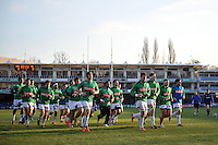 The Pau team leave the field at the end of the pre-match warm-up. European Rugby Challenge Cup match, between Bath Rugby and Pau (Section Paloise) on January 21, 2017 at the Recreation Ground in Bath, England. Photo by: Patrick Khachfe / Onside Images