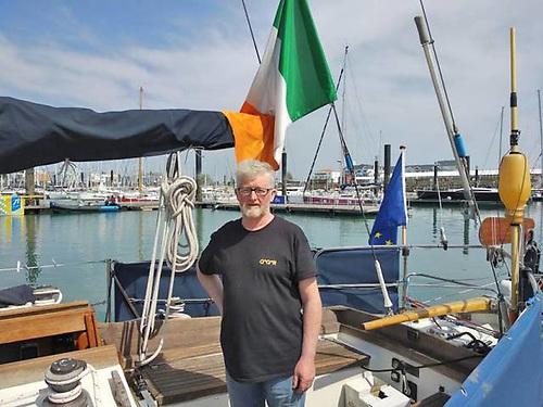 Pat Lawless aboard Iniscealtra