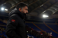 Gennaro Gattuso of AC Milan looks on ahead the Serie A 2018/2019 football match between AS Roma and AC Milan at stadio Olimpico, Roma, February 3, 2019 <br />  Foto Andrea Staccioli / Insidefoto