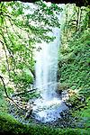 Under Shellburg Falls in summertime