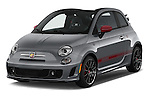 2016 Fiat 500c Abarth-Cabrio 2 Door Convertible Angular Front stock photos of front three quarter view