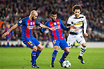 VfL Borussia Monchengladbach's Fabian Johnson, FC Barcelona's , Javier Mascherano Rafinha Alcantara  during Champions League match between Futbol Club Barcelona and VfL Borussia Mönchengladbach  at Camp Nou Stadium in Barcelona , Spain. December 06, 2016. (ALTERPHOTOS/Rodrigo Jimenez)