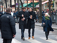 January 12 2018, Paris, France - Funerals of Singer France Gall in Montmartre Cemetery in Paris. Singer Matthieu Chedid is present. # OBSEQUES DE FRANCE GALL AU CIMETIERE DE MONTMARTRE
