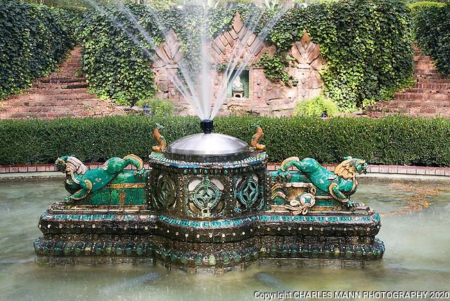 Douglas Chandor garden_Dragon Fountain_Weatherford ...