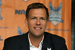 06 December 2011: Team president Curt Johnson. The Carolina RailHawks introduced Colin Clarke (NIR) as the team's new head coach at a press conference held at WakeMed Stadium in Cary, North Carolina. The RailHawks play in the North American Soccer League, the second division of professional soccer in the United States and Canada.