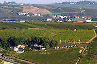 Vineyard. Winery building. Domaine de la Perriere, Sancerre, Loire, France