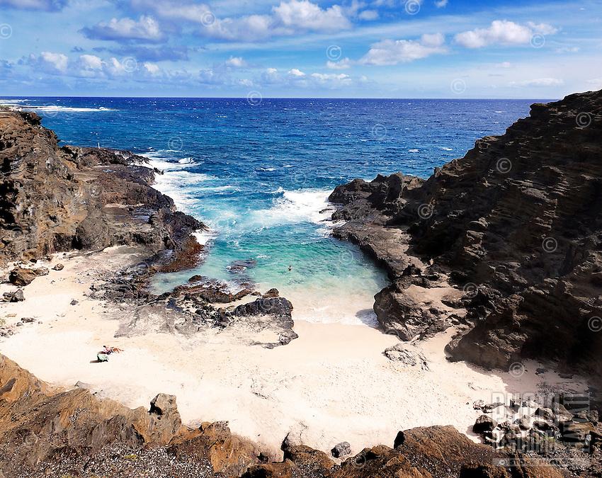 """Halona Beach Cove (""""From Here to Eternity"""" beach), east O'ahu."""