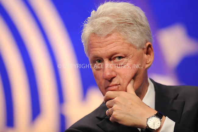 WWW.ACEPIXS.COM . . . . . .September 20, 2011...New York City....Former U.S. President Bill Clinton speaks at the Clinton Global Initiative on Sept. 20, 2011 New York City.......Please byline: KRISTIN CALLAHAN - ACEPIXS.COM.. . . . . . ..Ace Pictures, Inc: ..tel: (212) 243 8787 or (646) 769 0430..e-mail: info@acepixs.com..web: http://www.acepixs.com .
