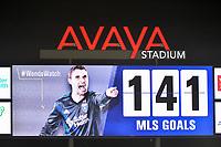 San Jose, CA - Saturday August 18, 2018: Chris Wondolowski during a Major League Soccer (MLS) match between the San Jose Earthquakes and Toronto FC at Avaya Stadium.