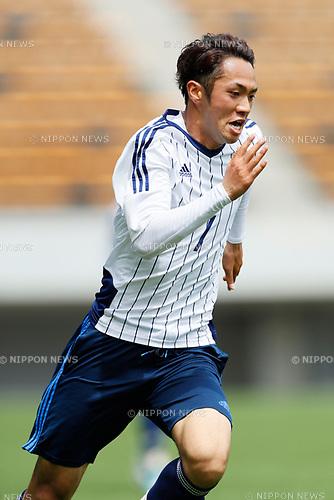Yuta Kamiya (JPN), <br /> APRIL 18, 2017 - Football / Soccer : <br /> U-20 Japan National team training match <br /> between U-20 - JEF United Chiba <br /> in Chiba, Japan. <br /> (Photo by Yohei Osada/AFLO SPORT)