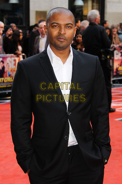 Noel Clarke.UK film premiere of 'Fast Girls' at Odeon West End, London, England..June 7th, 2012.half length suit jacket shirt black white.CAP/CJ.©Chris Joseph/Capital Pictures.