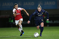 Leah Galton of Manchester Utd and Katie McCabe of Arsenal during Arsenal Women vs Manchester United Women, FA WSL Continental Tyres Cup Football at Meadow Park on 7th February 2019
