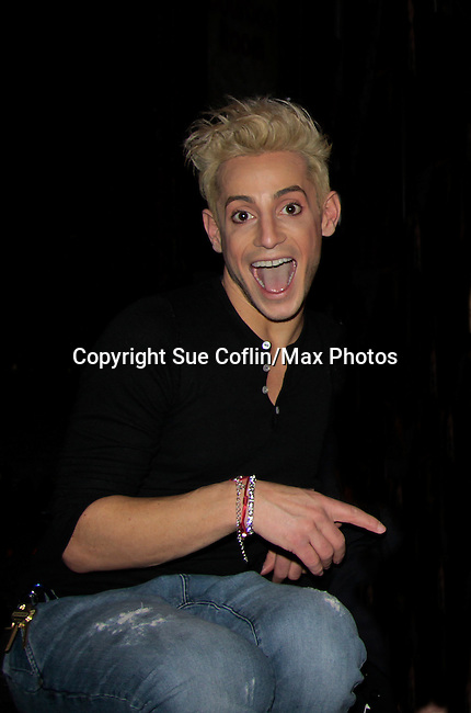Broadway's Rock of Ages starring Big Brother's Frankie J. Grande (brother of Ariana Grande) at the Helen Hayes Theatre, NYC, NY on December 17, 2014 while attending The Jane Elissa Extravaganza 2014 - 19 years - benefiting the Jane Elissa/Charlotte Meyer Endowment Fund which raises revenue that directly supports the research  of the Leukemia/Lymphoma Society. The grant goes to an individual researcher. (Photo by Sue Coflin/Max Photos)