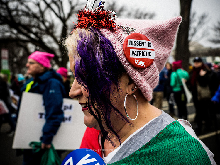 Dissent is Patriotic - One of thousands of protesters that participated in the Women's March in Washington DC 21 January, 2017
