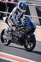 John Mcphee in pit line at pre season winter test IRTA Moto3 & Moto2 at Ricardo Tormo circuit in Valencia (Spain), 11-12-13 February 2014