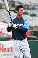 Trenton Thunder infielder Rob Refsnyder (24) during Media Day at ARM & HAMMER Park on April 1, 2014 in Trenton, New Jersey. (Tomasso DeRosa/Four Seam Images)
