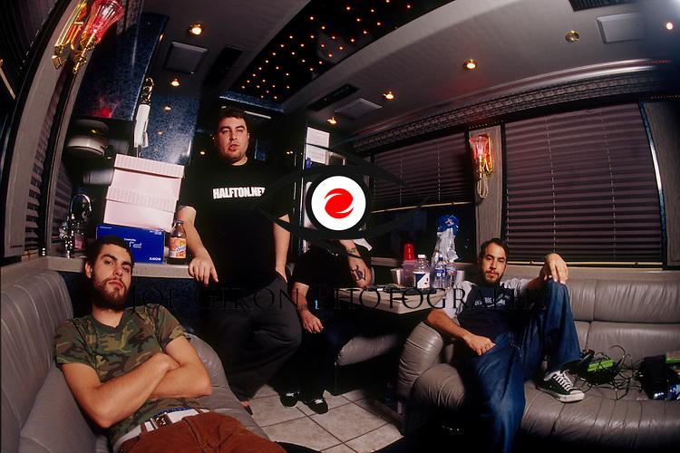 Rock band, Alien Ant Farm, pose for a portrait session
