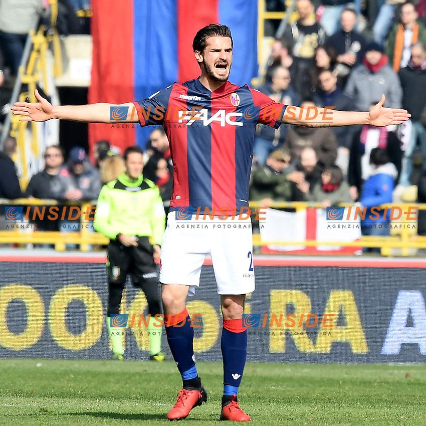 Marios Oikonomou <br /> Bologna 19-02-2017 Stadio Dall'Ara Football Calcio Serie A 2016/2017 Chievo Bologna - Inter. Foto Image Sport / Insidefoto