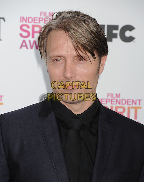 Mads Mikkelsen.2013 Film Independent Spirit Awards - Arrivals Held At Santa Monica Beach, Santa Monica, California, USA,.23rd February 2013..indy indie indies indys headshot portrait black.CAP/ROT/TM.©Tony Michaels/Roth Stock/Capital Pictures